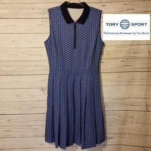 NWT Tory Birch Tory Sport Blue Golf Dress Size S